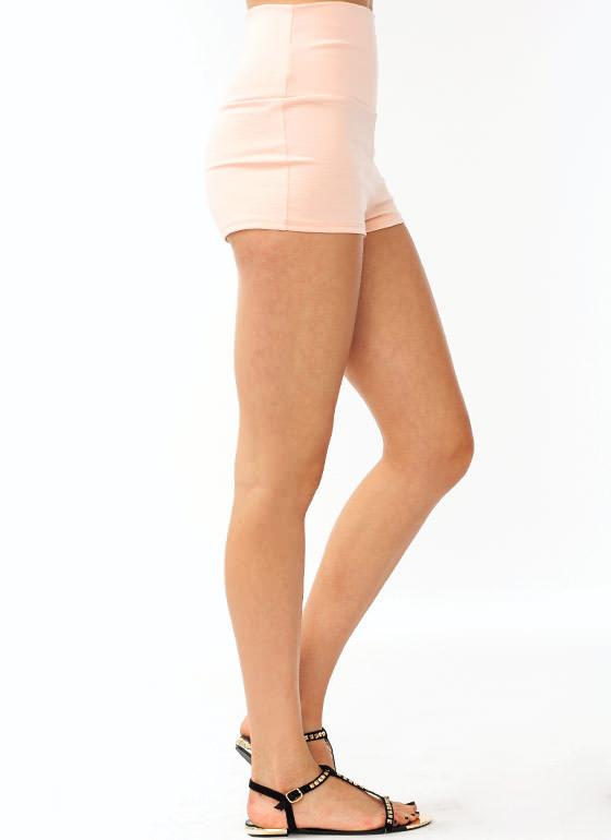 High-Waisted Shorts PEACH