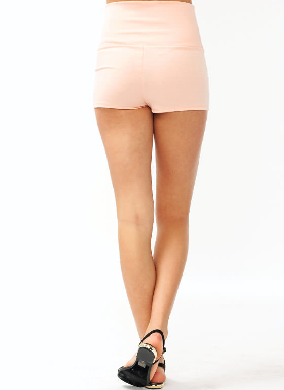 High Waisted Shorts PEACH