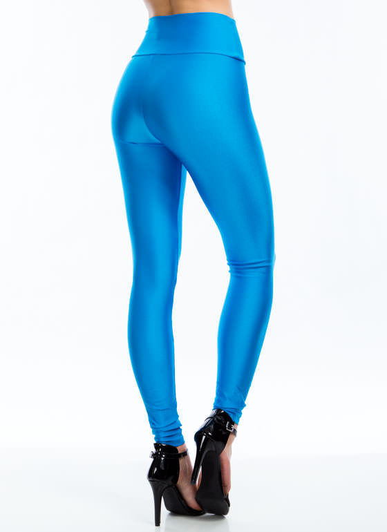High Waisted Leggings TURQUOISE