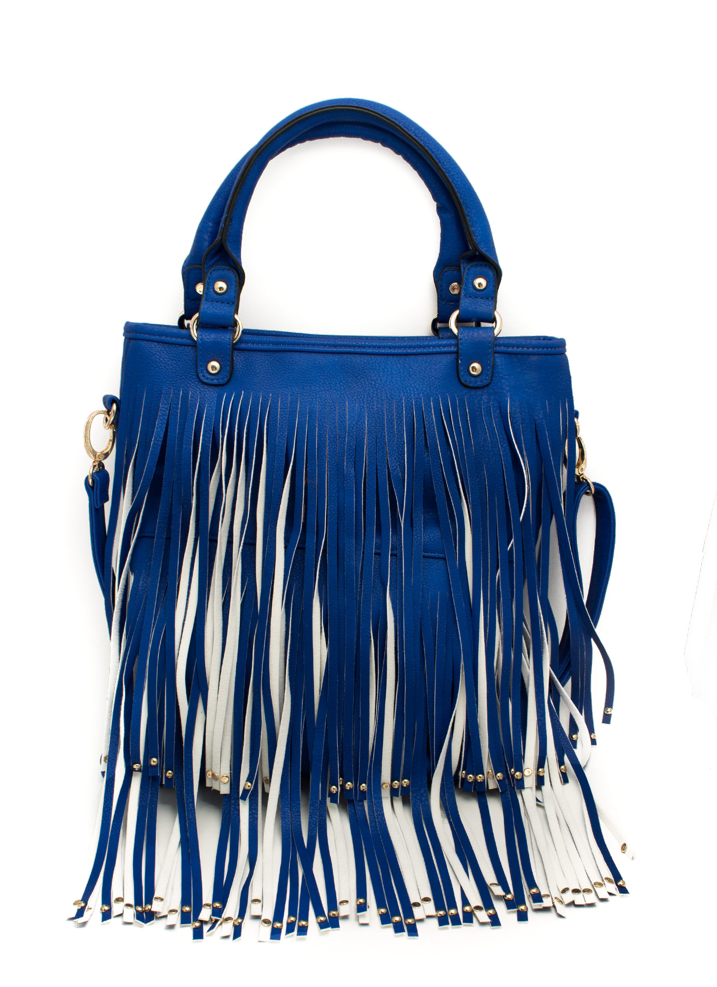 Studded Fringe Bag ROYAL