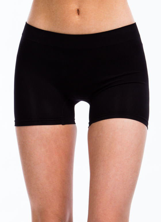 Stretchy Boy Shorts BLACK