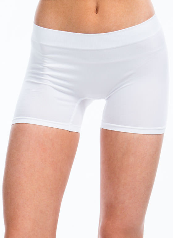 Stretchy Boy Shorts WHITE