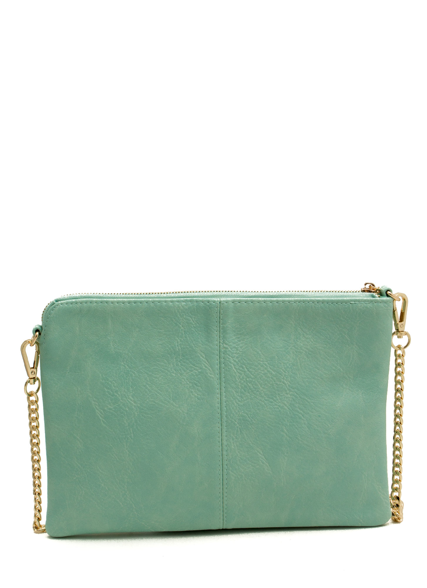 Exposed Tassel Zipper Clutch MINT