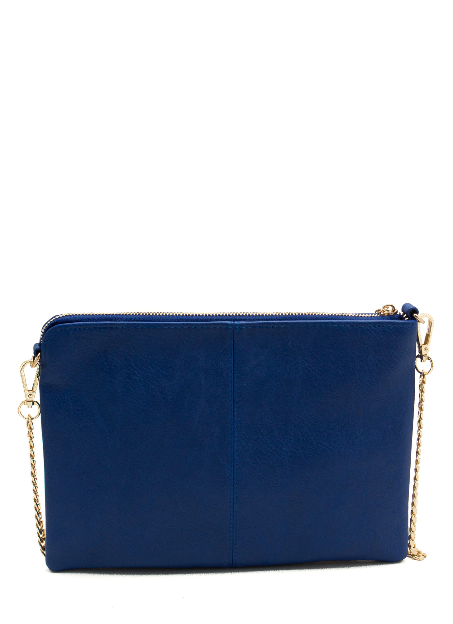 Exposed Tassel Zipper Clutch ROYAL