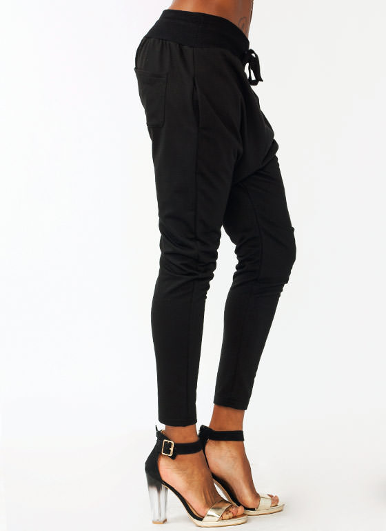 Drawstring Sweatpants BLACK