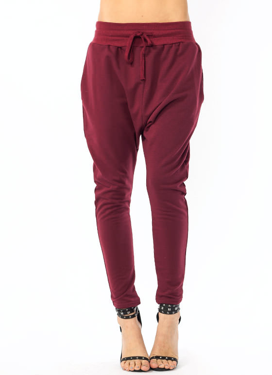 Drawstring Sweatpants BURGUNDY