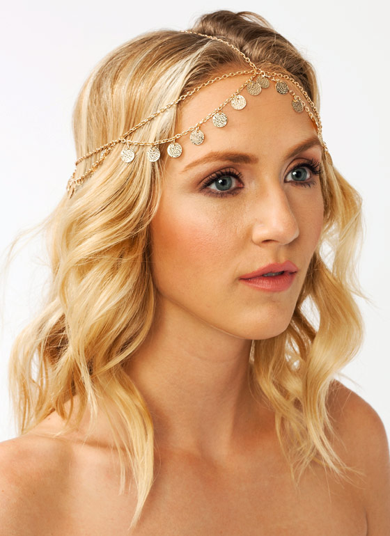Textured Disc Headpiece GOLD