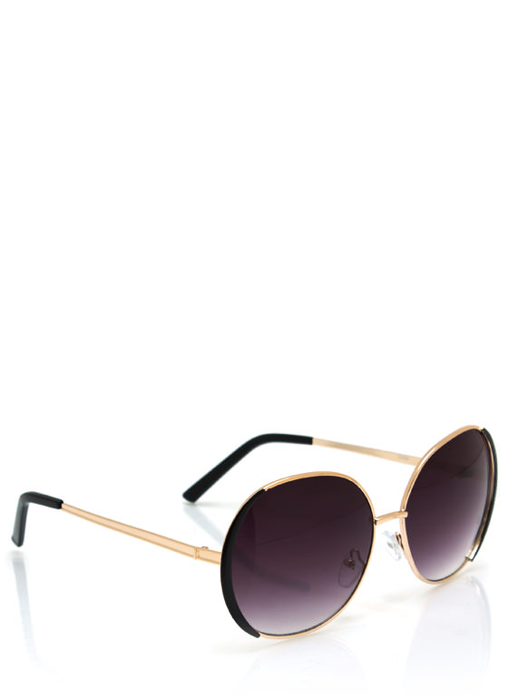 Pop Of Color Sunglasses BLACKGOLD