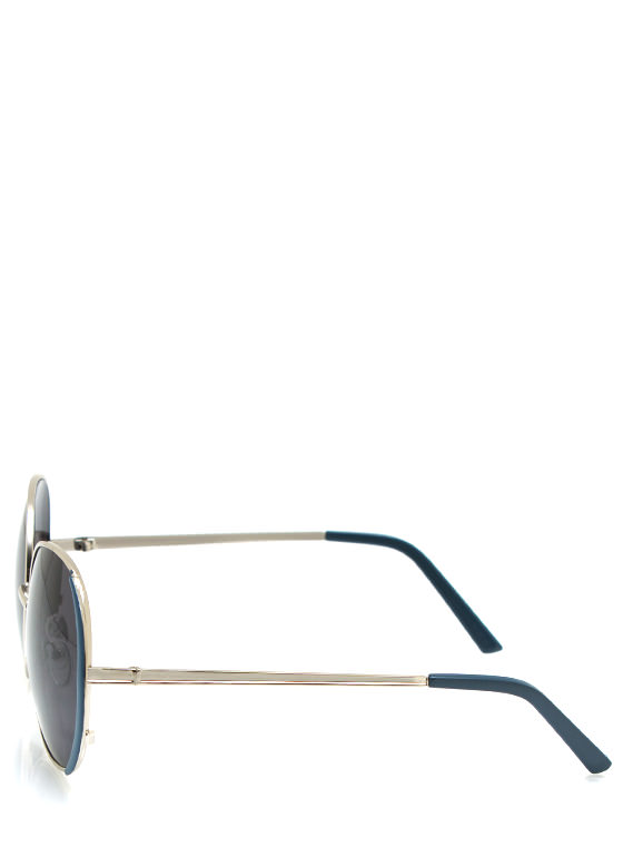Pop Of Color Sunglasses TEALSILVER