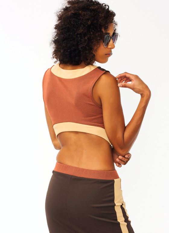 Colorblock Cropped Top RUSTCAMEL