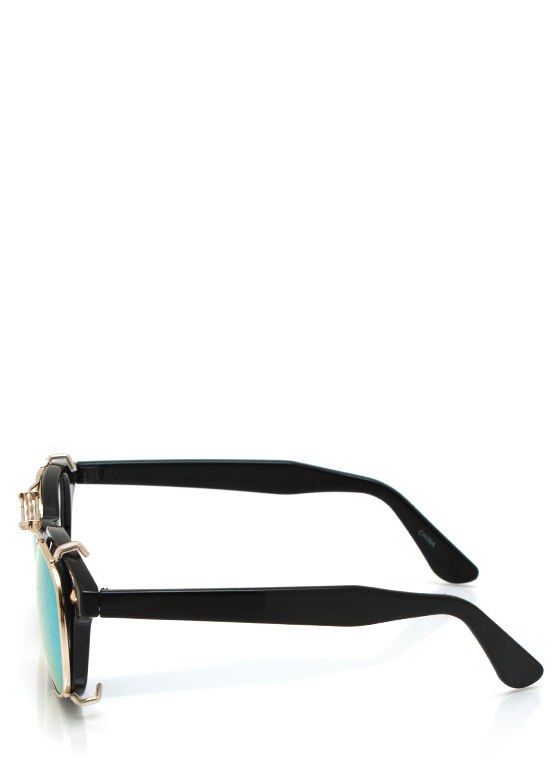 Tops Off Sunglasses BLACKGREEN