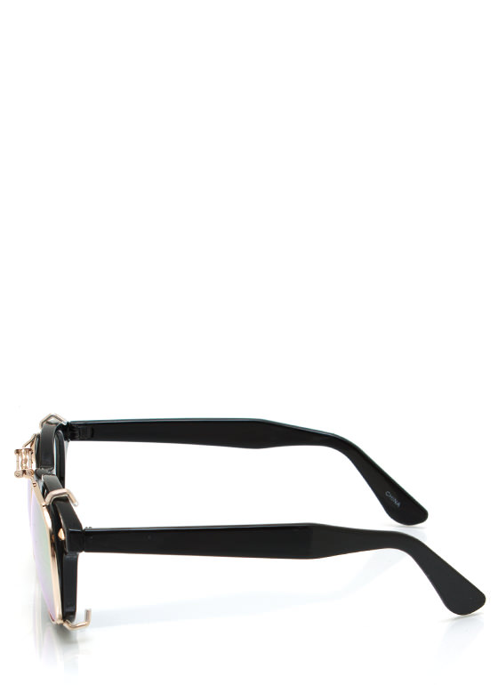 Tops Off Sunglasses BLACKORG