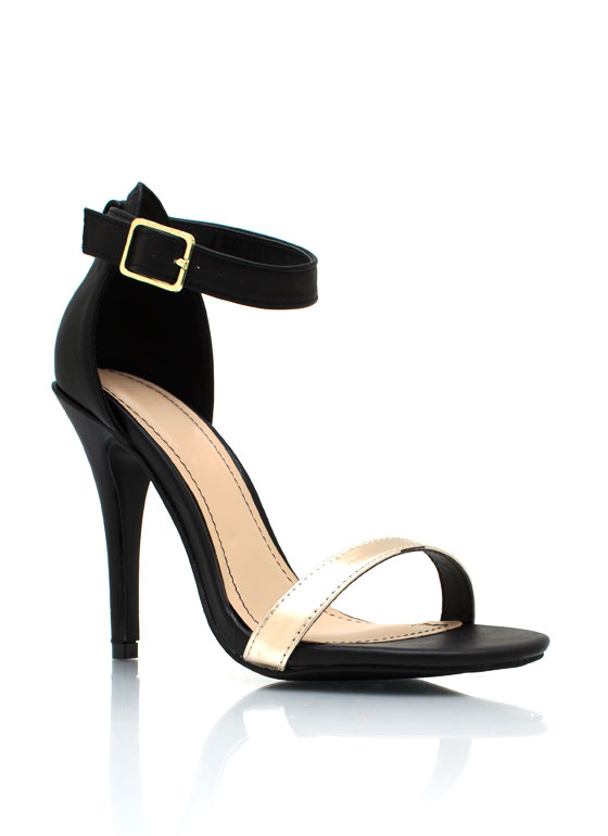 Strappy Single Sole Heels BLACKGOLD