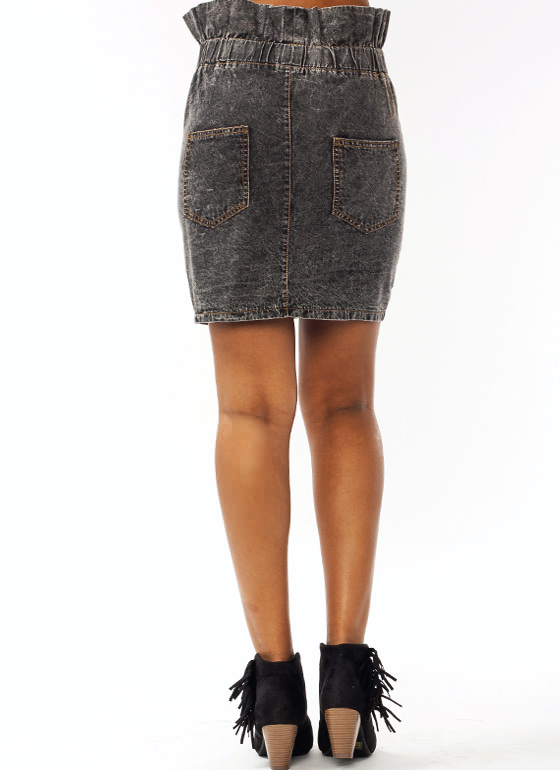 Totally 90s Mini Skirt BLACK