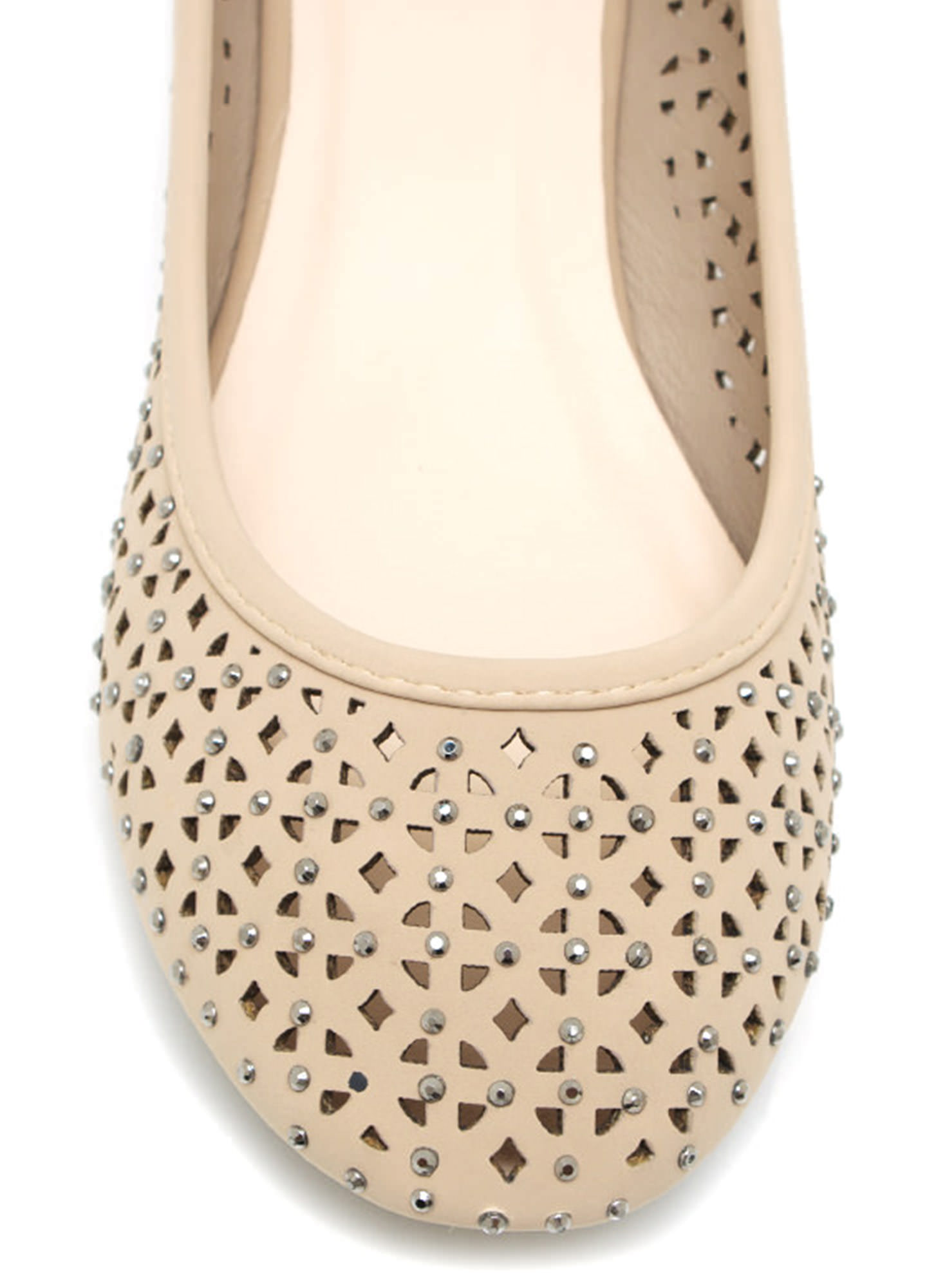 Cut-Out Ballet Flats NUDE