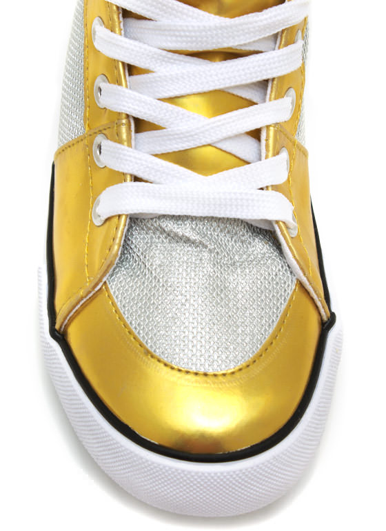 Space Cadet Holographic Sneakers GOLD