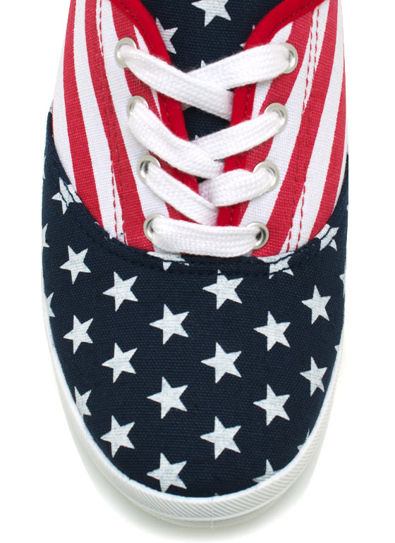 American Flag Canvas Sneakers FLAGPRINT