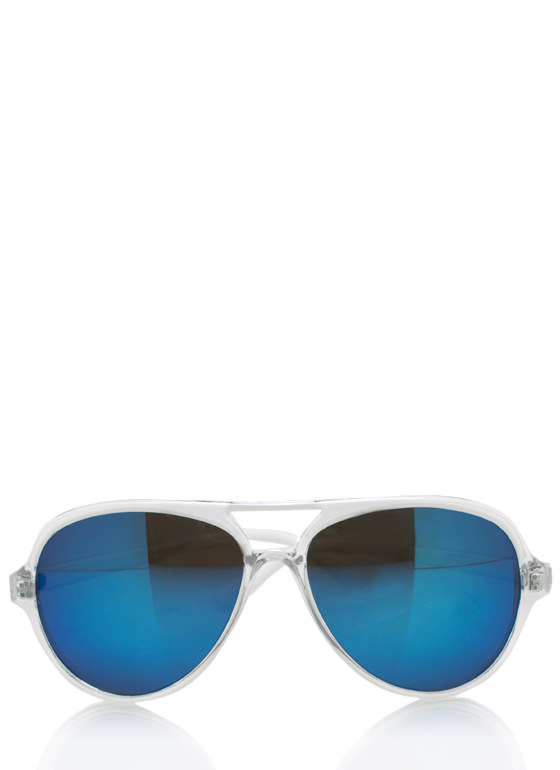 De Colores Aviator Sunglasses CLEARBLUE