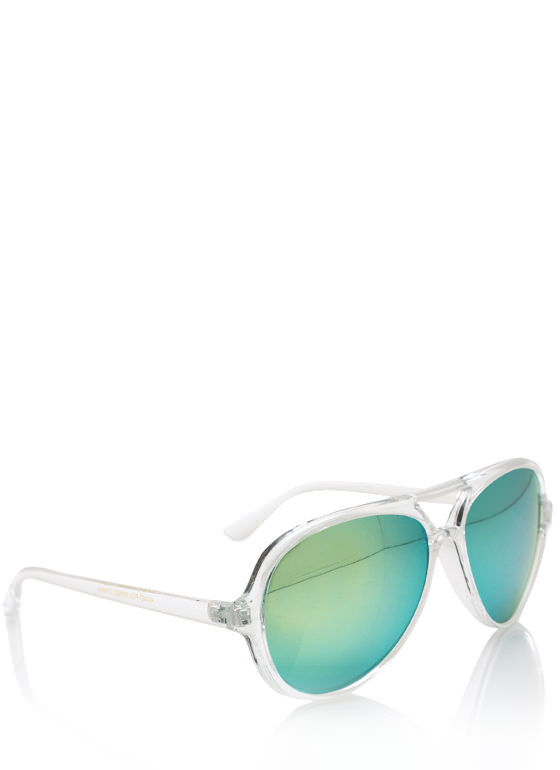 De Colores Aviator Sunglasses CLEARGREEN