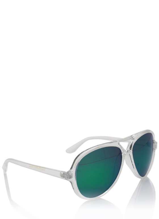 De Colores Aviator Sunglasses CLEARTEAL