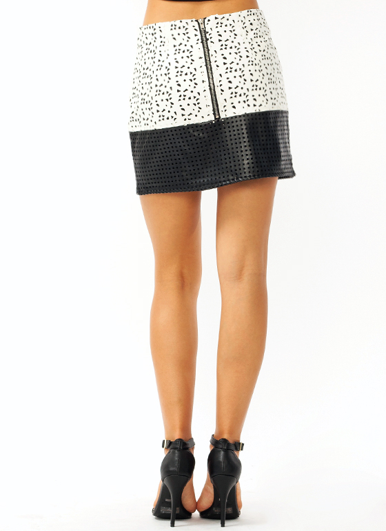 Laser Cut Mini Skirt BLACKIVORY