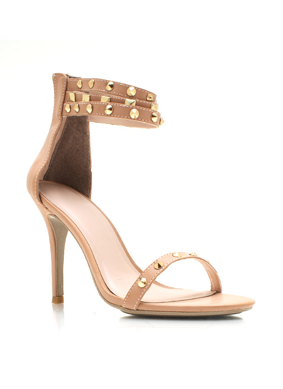 Spike Studded Single Sole Heels NUDE