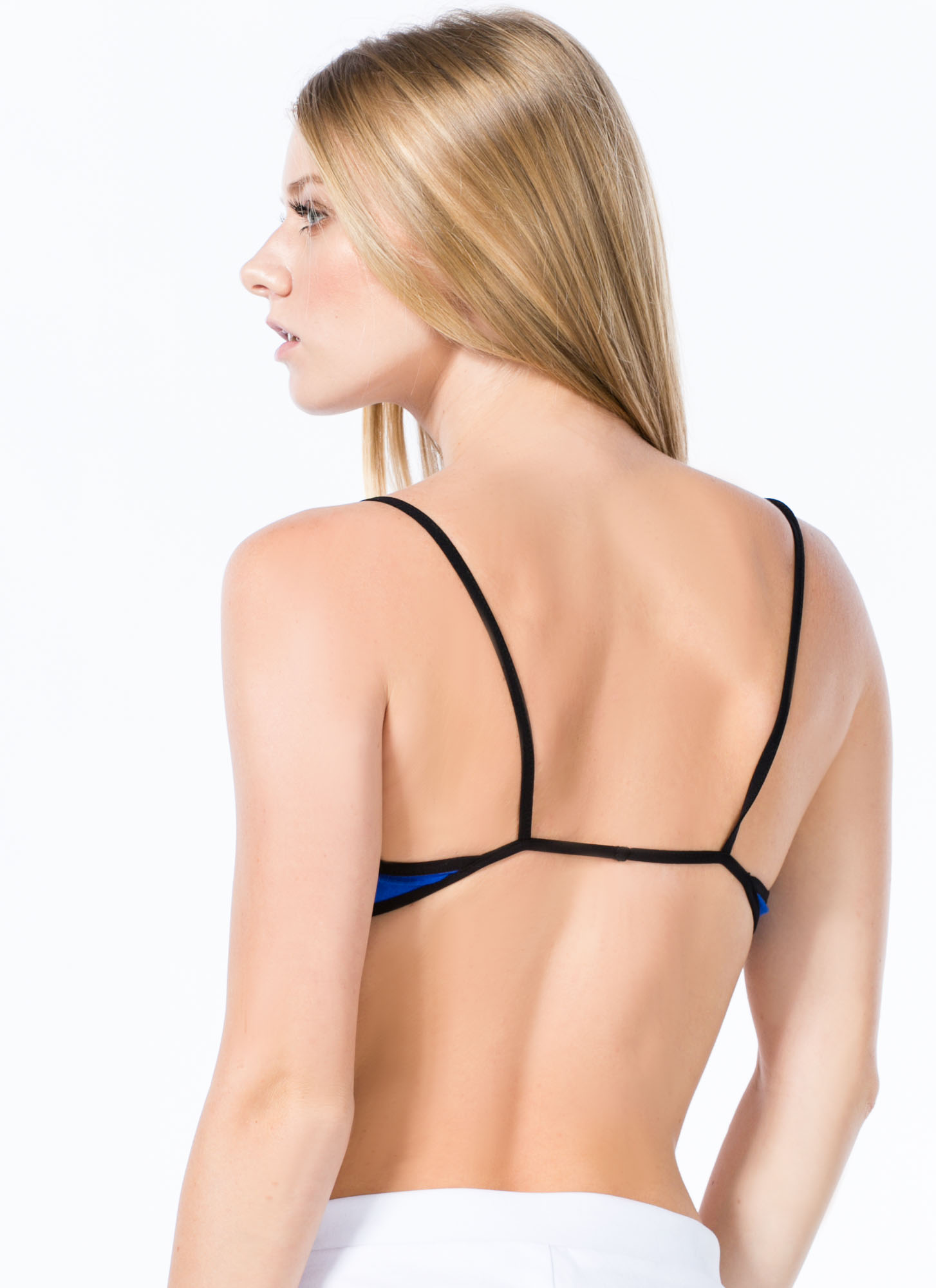 Strap Attack Bralette ROYALBLUE