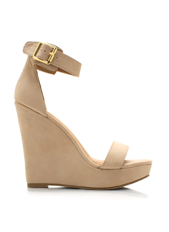 Strap It And Tap It Wedges NUDE
