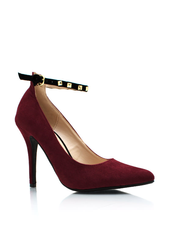 Stud Y Time Heels BORDEAUX