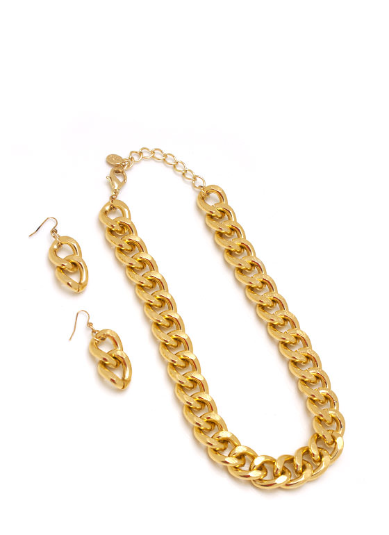 Chain On My Parade Necklace Set GOLD