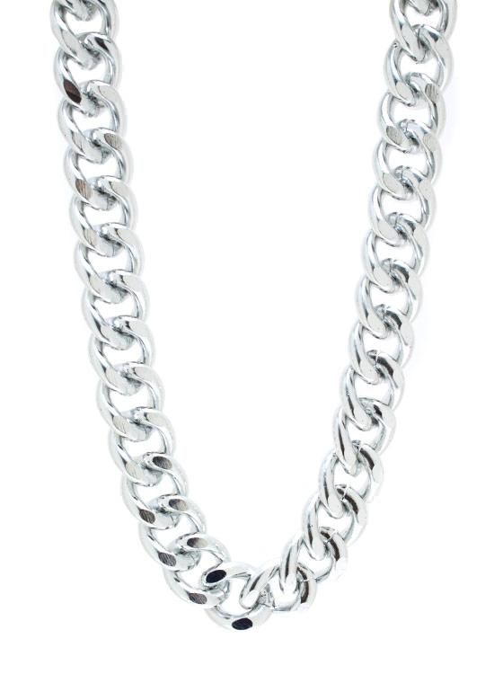 Chain On My Parade Necklace Set SILVER