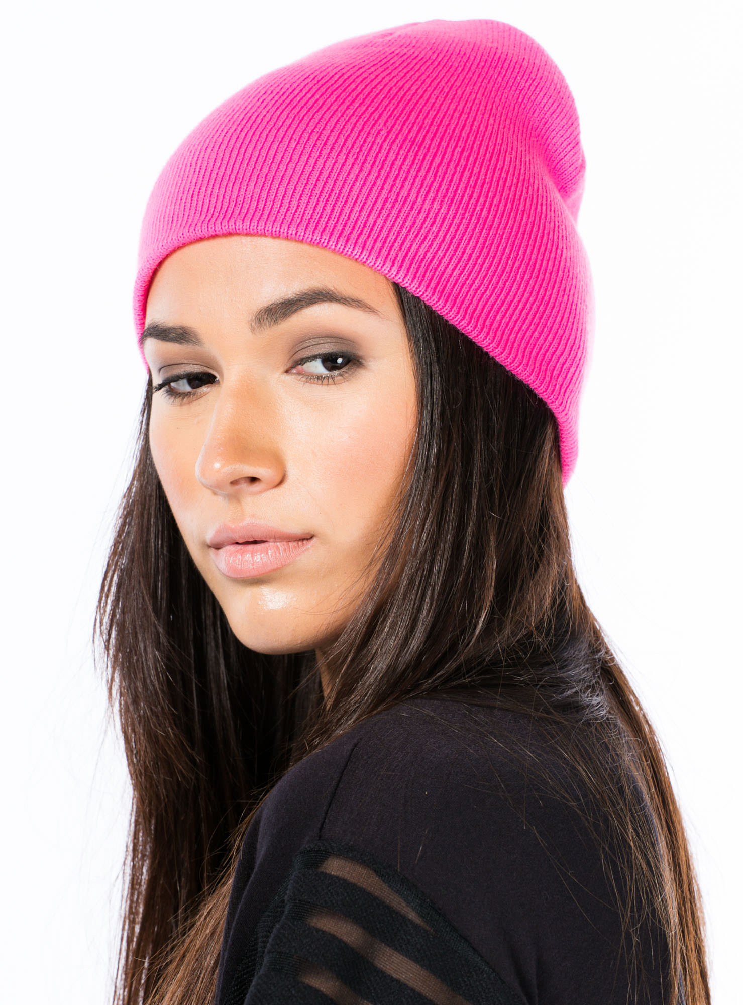 Neon Of Your Business Sweater Beanie NEONPINK