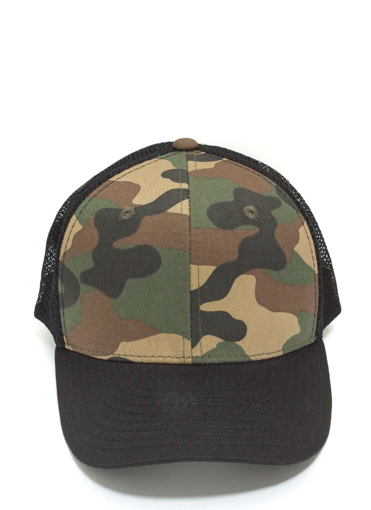 New Accessories: Crazy For Camo Trucker Snapback BLACKOLIVE