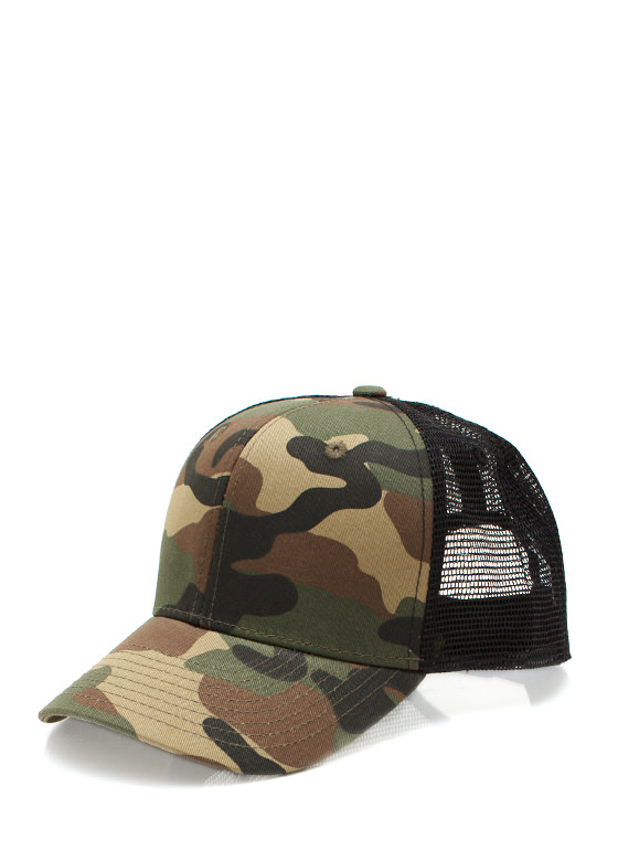 New Accessories: Crazy For Camo Trucker Snapback OLIVEBLACK