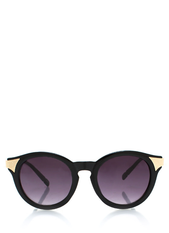 Mess A Round Hot Tip Sunglasses BLACKGOLD