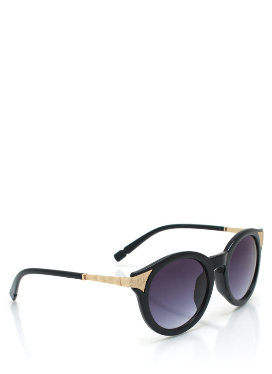 Mess A Round Hot Tip Sunglasses NAVYGOLD