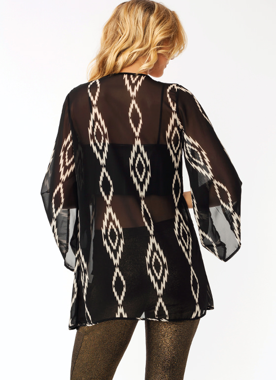 Jagged Little Flyaway Cardigan BLACKGREY