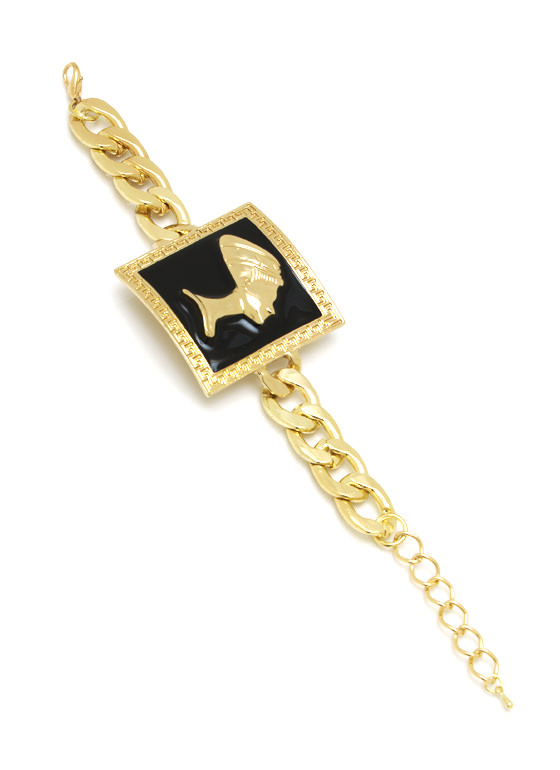 Pharaoh And Square Chain Bracelet GOLDBLACK
