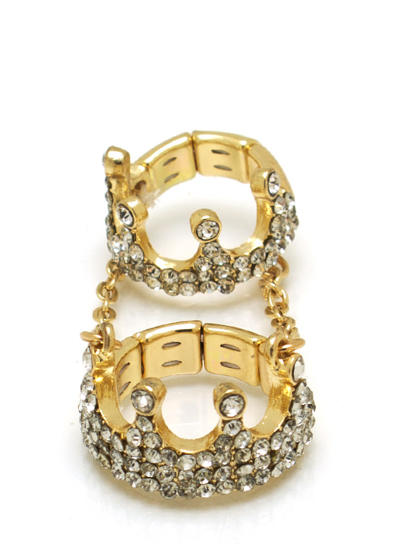 Queen Bee Crown Ring GOLD