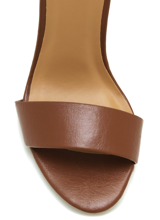 Buckle Up Ankle Strap Heels TAN