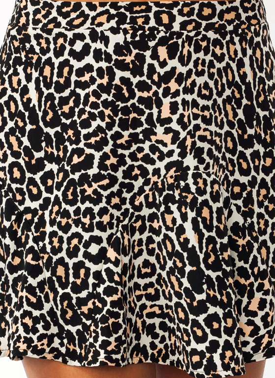Lady Leopard Mini Skirt BLACKLEO