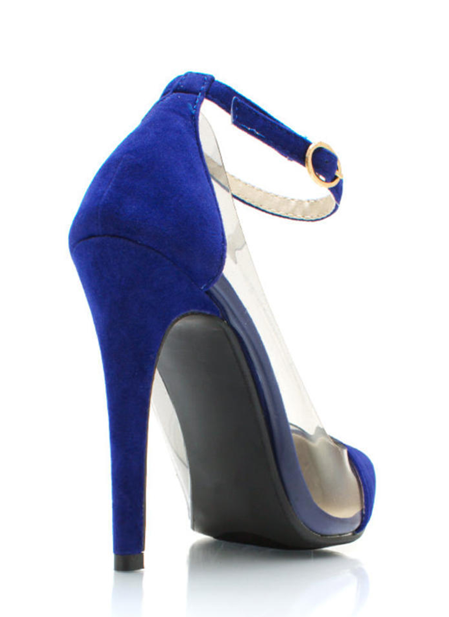 Show Some Skin Cap Toe Heels BLUE