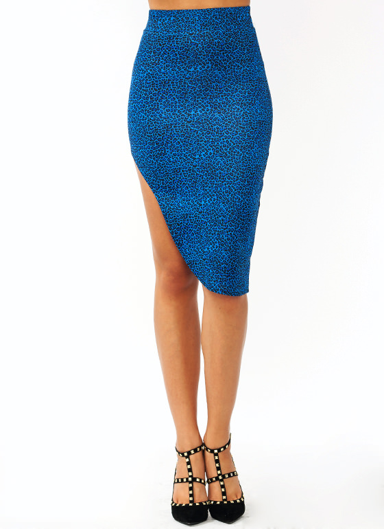 Feline Good Cut Out Skirt BLUE