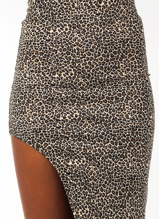 Feline Good Cut Out Skirt BROWN
