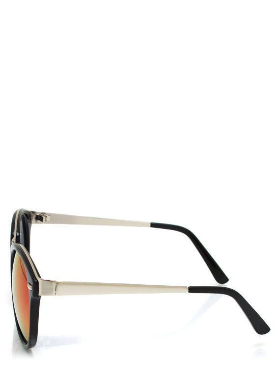 Seeing Colors Reflective Sunglasses BLACKRED