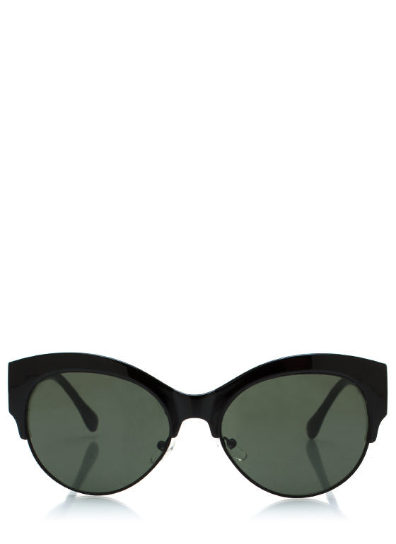 Cool Cat Cat Eye Sunglasses BLACKBLACK