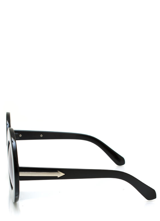 Round And Round Sunglasses BLACK
