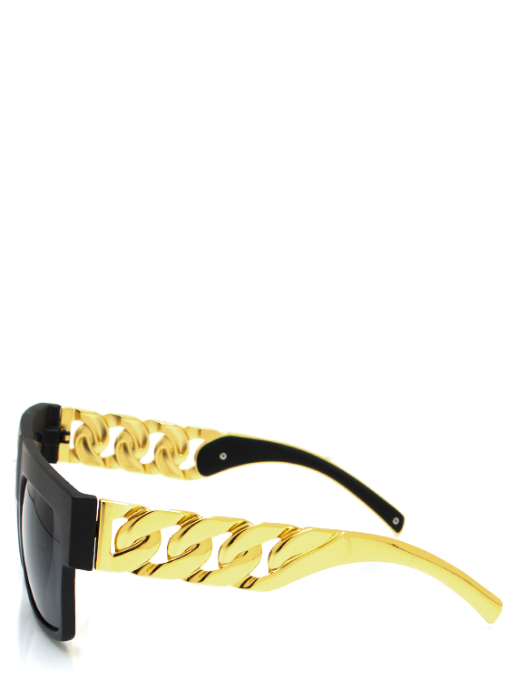 Chain Ge Is Here Sunglasses MBLACKGOLD