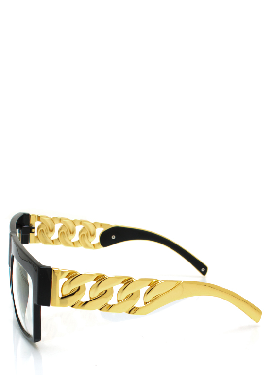 Chain Ge Is Here Glasses BLACKGOLD
