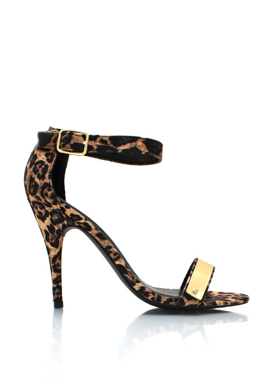 Jungle Cat Single Sole Heels CAMEL